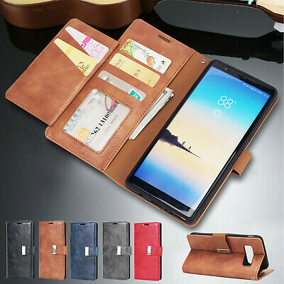For Samsung S10 Plus Case S10e S8+ S9 Note 8 Magnetic Leather Wallet Stand Cover