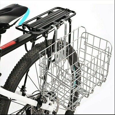 Metal Folding Bicycle Wired Basket Steel Shopping Cage Sport Accessories Quality