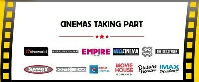 Codes for 2x Sweet Sundays Cinema Tickets Cineworld EMPIRE