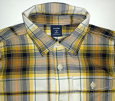 boy 3t BABY GAP fall plaid button up shirt top LET'S EXPLORE! fall *2015*
