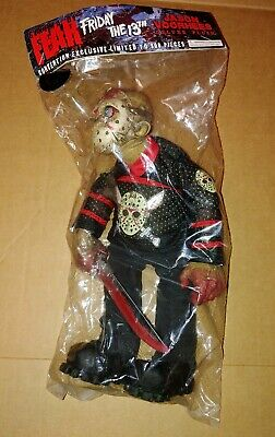 Jason Voorhees Hockey Jersey Plush Mezco Cinema Of Fear Con Excl Friday the 13th
