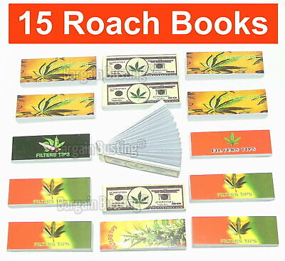 PACK OF 20  x ROACH FILTER TIPS BOOKS Leaf Theme ROACHES CARDS FILTER TIPS