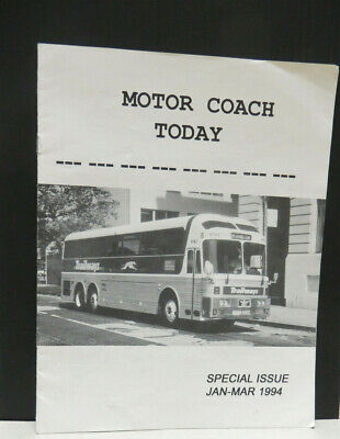 Motor Coach Today Eagle Bus Special Issue Jan-Mar 1994 Pub. by Motor Bus Society