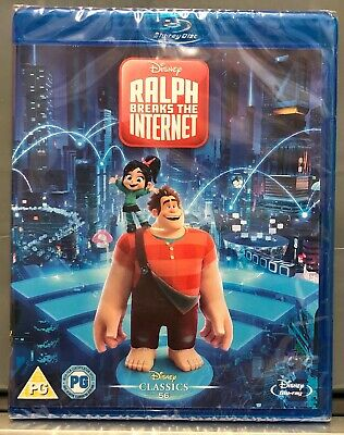 Disney Ralph Breaks The Internet Blu Ray New And Factory Sealed Uk Version New