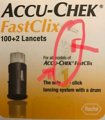 ACCU-CHEK FastClix 100+2 Lancets 1-Box of 102 Exp 2020+ SHIPS FREE TODAY