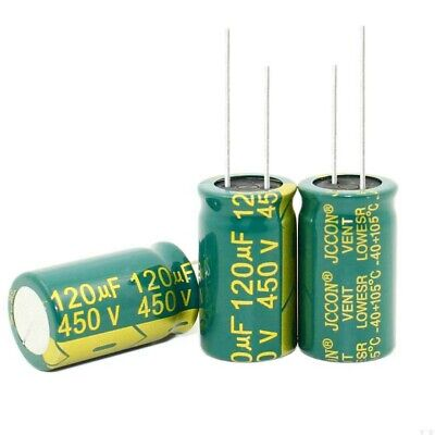 450V 120uF High Frequency LOW ESR Radial Electrolytic Capacitors 105°C 18x31mm