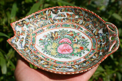 20th C. Antique Chinese Porcelain Hand Painted Famille Rose Plate - Marks #7