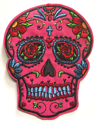 USA saler Sugar Skull  iron on Patch Sewing Clothes Mexican Day of the Dead #40
