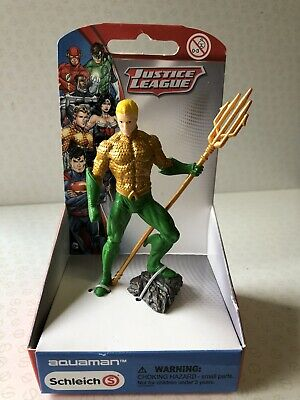 SCHLEICH JUSTICE LEAGUE AQUAMAN *NEW IN BOX* Figure Toy (DC COMICS/SUPER HEROES)