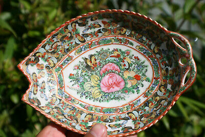 20th C. Antique Chinese Porcelain Hand Painted Famille Rose Plate - Marks #8
