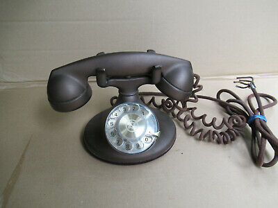 Vintage Western Electric Bell System Telephone D1 Rare Color F1 Gold Desk Phone