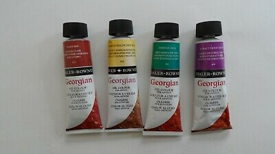 Daler Rowney Georgian Oil Colours 4x75ml.  New in tube.