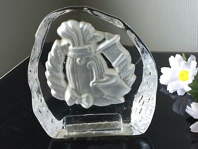 PERSONALISED Engraved 18th Anniversary CRYSTAL Glass Paperweight Frosted Décor