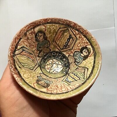 ANCIENT GANDHARA/ISLAMIC CERAMIC GLAZED PICTORIAL BOWL C2nd / 4th Cent AD.