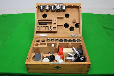 Fabulous set of Vintage Leitz Wetzlar 22-100 Microscope Lens + Eyepieces + more
