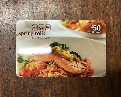 Spring Rolls Restaurant Gift Card - $50 Mail Delivery