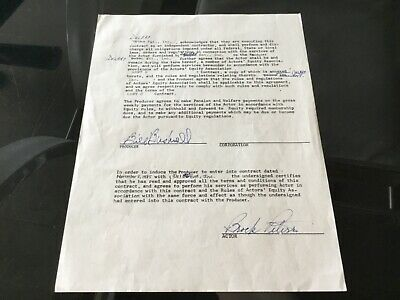 Brock Peters Actor & Civil Rights Pioneer 1985 Hand Signed In Ink Contract