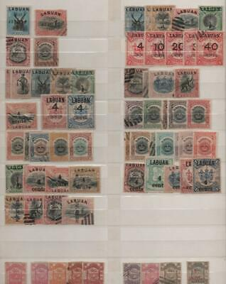 NORTH BORNEO/LABUAN/BRUNEI: Used - Ex-Old Time Collection - 2 Sides Page (25227)