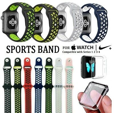 Replacement Sports Band for Apple Watch Nike+ Series 4 40/44mm + Watch Protector