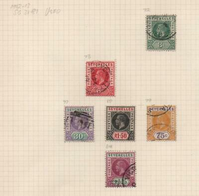 SEYCHELLES: 1912-1913 George V - Ex-Old Time Collection - Part Page (24882)