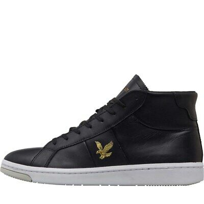 Lyle And Scott Vintage High Profile Gemmill Mens Leather Trainers- 6-12