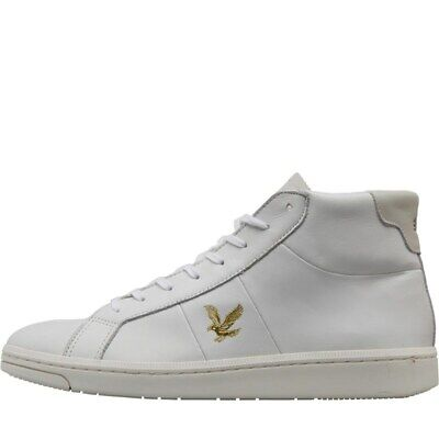 Lyle And Scott Vintage Hi Top Gemmill Mens Leather Trainers- 6-12