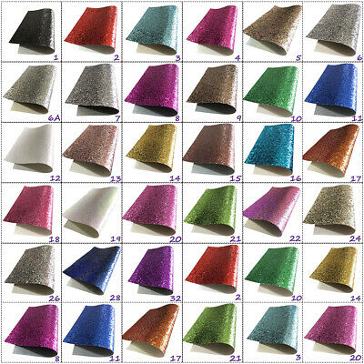 Chunky Sparkling Glitter Fabric in A4.A5 & A6 Sheets Hair Bows Crafts Code #021