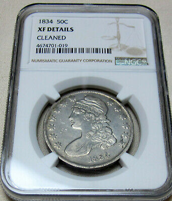 1834 50C Capped Bust Half Dollar NGC XF Details