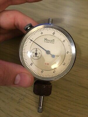 "Mercer St. Albans .0001"" imperial dial test indicator gauge tool long range type"