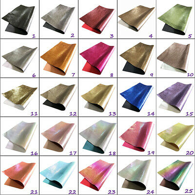 Metallic Leather Look Fabric Backed A4 A5 Sheets Hair Bows Crafts Code # 312