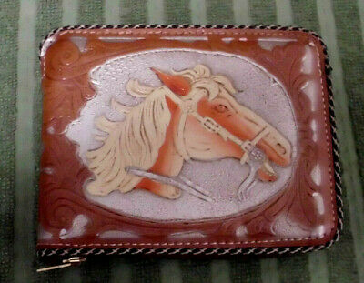 Rare Vintage 1940'S-50'S Cowboy Western Leather Wallet Near Mint Condition!