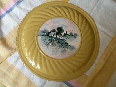 Yellow Antique Vintage Chimney Flue Stove Pipe Cap Cover House On A Lake
