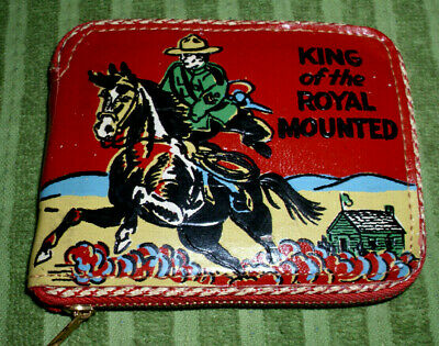 Rare Vintage 1940'S-50'S Cowboy Western King Of The Royal Mounted Leather Wallet