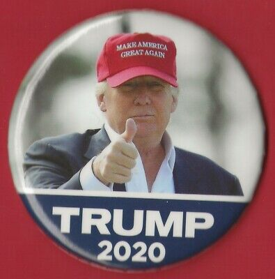 """2020 Donald Trump 3"""" / """"OFFICIAL"""" Red MAGA Hat Presidential Campaign Button(OP1)"""