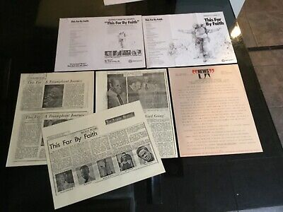 THIS FAR BY FAITH TV Series Donald Byrd 1977 Documents Lot Brock Peters Estate