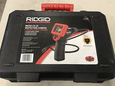 "RIDGID Micro CA-25 Hand-Held Inspection Camera 4 ft Cable Reach, 2.7"" Screen"