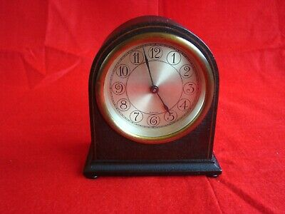 Antique Herschede 11 Jewel Swiss Recta Watch Co. #35662 Small Mantle/Desk Clock