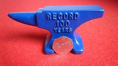 SMALL RECORD ANVIL ADVERTISING JEWELLER LIVE STEAM MODEL CRAFT TOOL KIT 100 Year