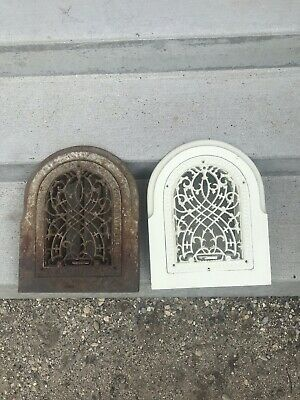 Vintage Cast Iron Arch Heating Grates