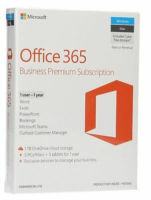 Microsoft Office 365 Business Premium - 1 year license for Mac/PC/Android