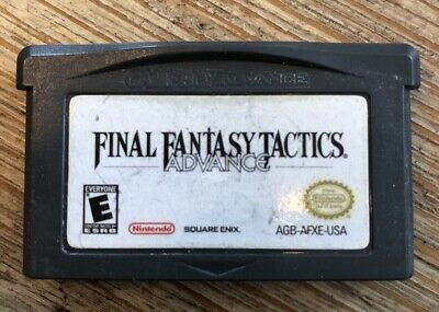 Final Fantasy Tactics Advance - GBA ( Nintendo Gameboy Advance ) Game Only !
