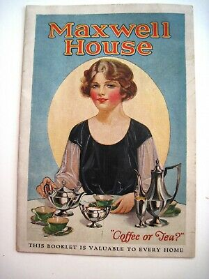 """Vintage """"Maxwell House"""" Booklet w/ Recipes and Pictures *"""