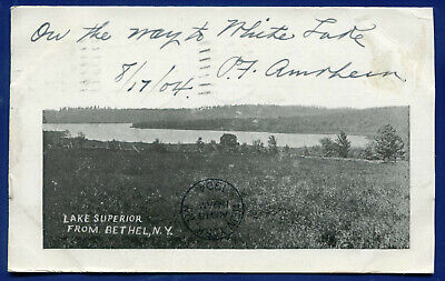 Lake Superior from Bethel New York ny 1904 old postcard