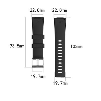 Silicone Wrist Strap Watch Band Replacement For Fitbit Versa / Versa Lite