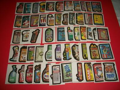"""Wacky Packages 1991 Series Complete Set 55/55 Includes HTF """"BARFS ROTBEER"""" L@@K!"""