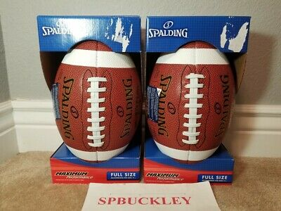 Lot Of 2 Spalding Neverflat Official Size Football Ball, 62-9629, New, 14+