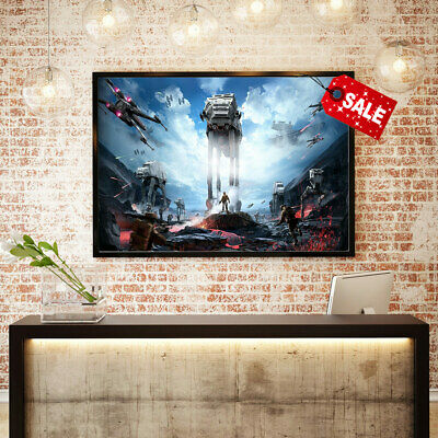 Canvas Print Oil Painting Star Wars The Front of The Battle Home Art Decor 16x24