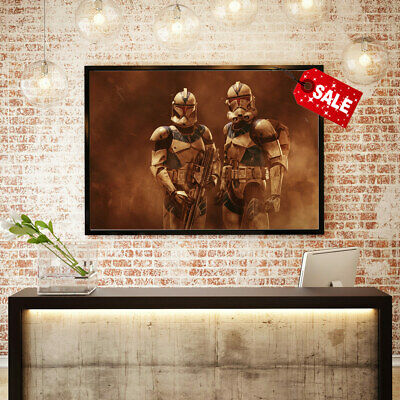 Art Print Painting on Canvas Home Deco  Star Wars Clone Werner Burgstaller 16x24