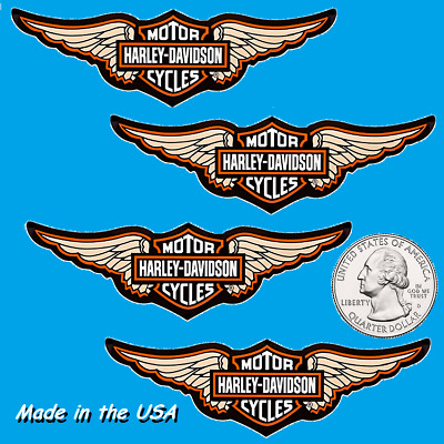 Four (4) Winged Harley Davidson Stickers - decorate your car, motorcycle, laptop