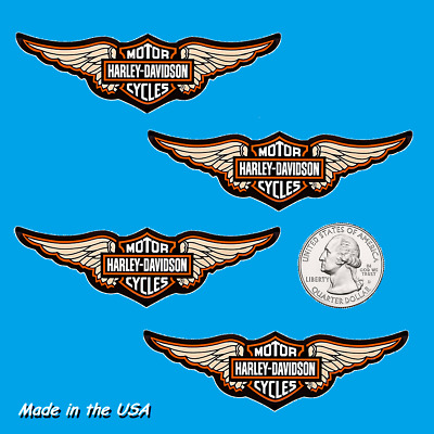 Four (4) Winged Harley Davidson Stickers -decorate your car, motorcycle, laptop!